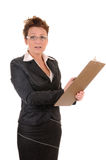 Confused business woman Stock Photography