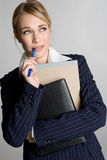 Confused Business Woman. Beautiful blond confused business woman Stock Images