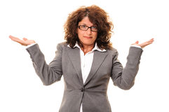 Confused business woman Royalty Free Stock Photography