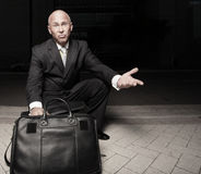 Confused businessman Royalty Free Stock Photos