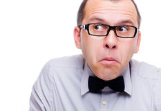 Confused businessman Stock Image