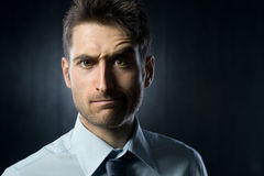 Confused businessman Royalty Free Stock Photography
