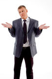 Confused businessman looking aside Stock Image