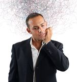 Confused businessman stock photography