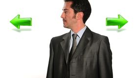 Confused businessman stock footage