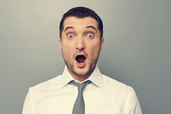 Confused businessman wit open mouth Royalty Free Stock Photo