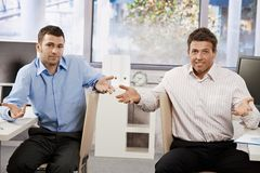 Confused businessmen Stock Images
