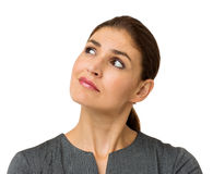 Confused Businesswoman Looking At Copy Space Royalty Free Stock Photo