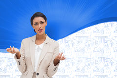 Confused businesswoman standing Royalty Free Stock Images