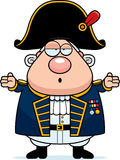 Confused Cartoon British Admiral Stock Image