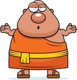 Confused Cartoon Buddhist Monk Stock Photo