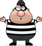 Confused Cartoon Burglar. A cartoon illustration of a burglar looking confused Royalty Free Stock Photos