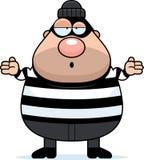 Confused Cartoon Burglar Royalty Free Stock Photos