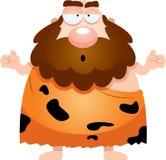 Confused Cartoon Caveman Royalty Free Stock Photo