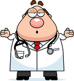 Confused Cartoon Doctor Royalty Free Stock Photos