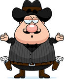 Confused Cartoon Gunfighter Stock Photos