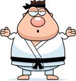 Confused Cartoon Karate Man Stock Photo