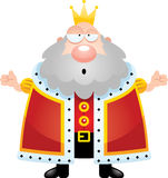 Confused Cartoon King Royalty Free Stock Image