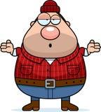 Confused Cartoon Lumberjack Royalty Free Stock Image