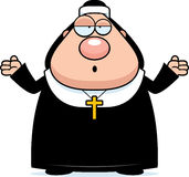 Confused Cartoon Nun Stock Images