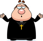 Confused Cartoon Priest Stock Photography