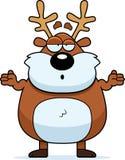 Confused Cartoon Reindeer Royalty Free Stock Image