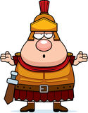 Confused Cartoon Roman Centurion Royalty Free Stock Photos