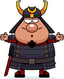 Confused Cartoon Samurai Stock Photo