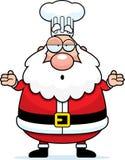Confused Cartoon Santa Claus Chef Stock Image