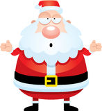 Confused Cartoon Santa Claus Stock Photo
