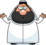 Confused Cartoon Sheikh Royalty Free Stock Image
