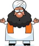 Confused Cartoon Sikh Stock Photo