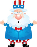 Confused Cartoon Uncle Sam Stock Photo