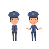 Confused  Character Constabulary in ignorance and does not know Stock Image