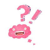 confused cloud cartoon character Stock Photo
