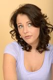 Confused Concerned Worried Thoughtful Young Woman Considering A Situation Royalty Free Stock Images