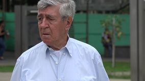 Confused, Confusion, Worry, Anxiety, Stress. Stock video of an older man stock video footage