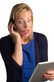 Confused Customer Service Woman Stock Photography