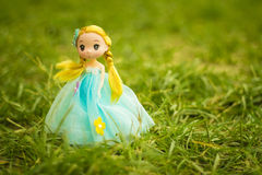 Confused Doll. A doll with nature Royalty Free Stock Images