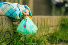 Confused Doll. A doll with nature Royalty Free Stock Image