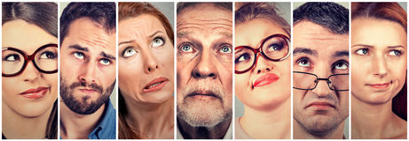 Free Confused Doubtful Looking Men And Women Stock Images - 75691764