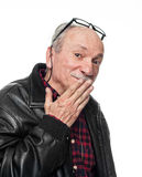Confused elderly man Royalty Free Stock Images
