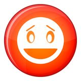 Confused emoticon, flat style Royalty Free Stock Images
