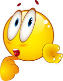 Confused emoticon. Emoticon yellow guy - confused expression Royalty Free Stock Photography