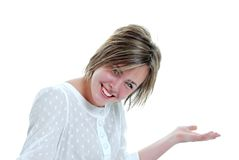 Confused female teenager Stock Photography