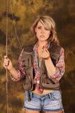 confused fisherwomanutvikningsbrud Arkivfoton