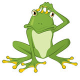Confused Frog Royalty Free Stock Photo