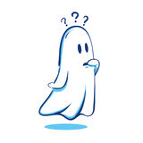 Confused Ghost. Vector illustration of a ghost feeling confused vector illustration