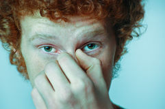 Confused ginger face Stock Image