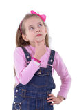 Confused Girl Thinking Royalty Free Stock Photos